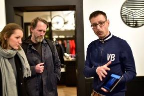 Kriso Leinfellner mit Veletage-Geschäftsführer Kurt Stefan